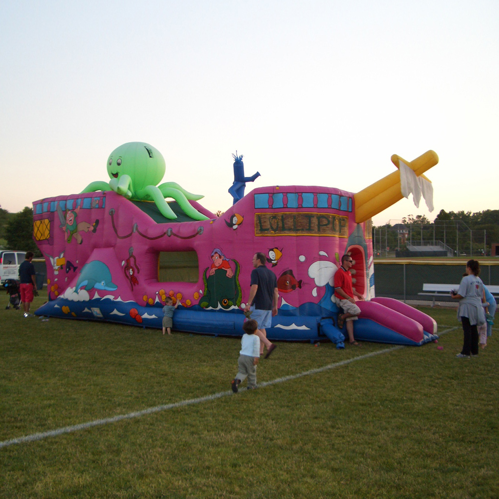 ghost ship galleon - inflatable halloween-themed obstacle course