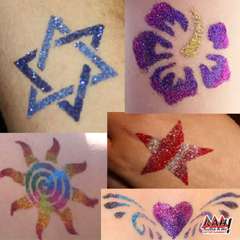 Glitter Tattoo Artists - Record-A-Hit Entertainment Party Rental ...