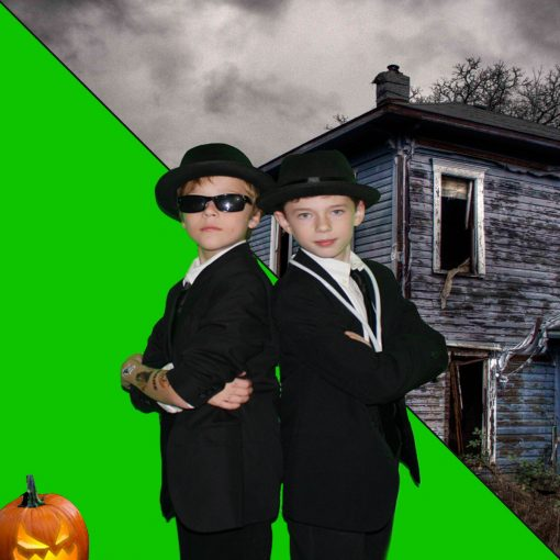 Halloween Themed Green Screen