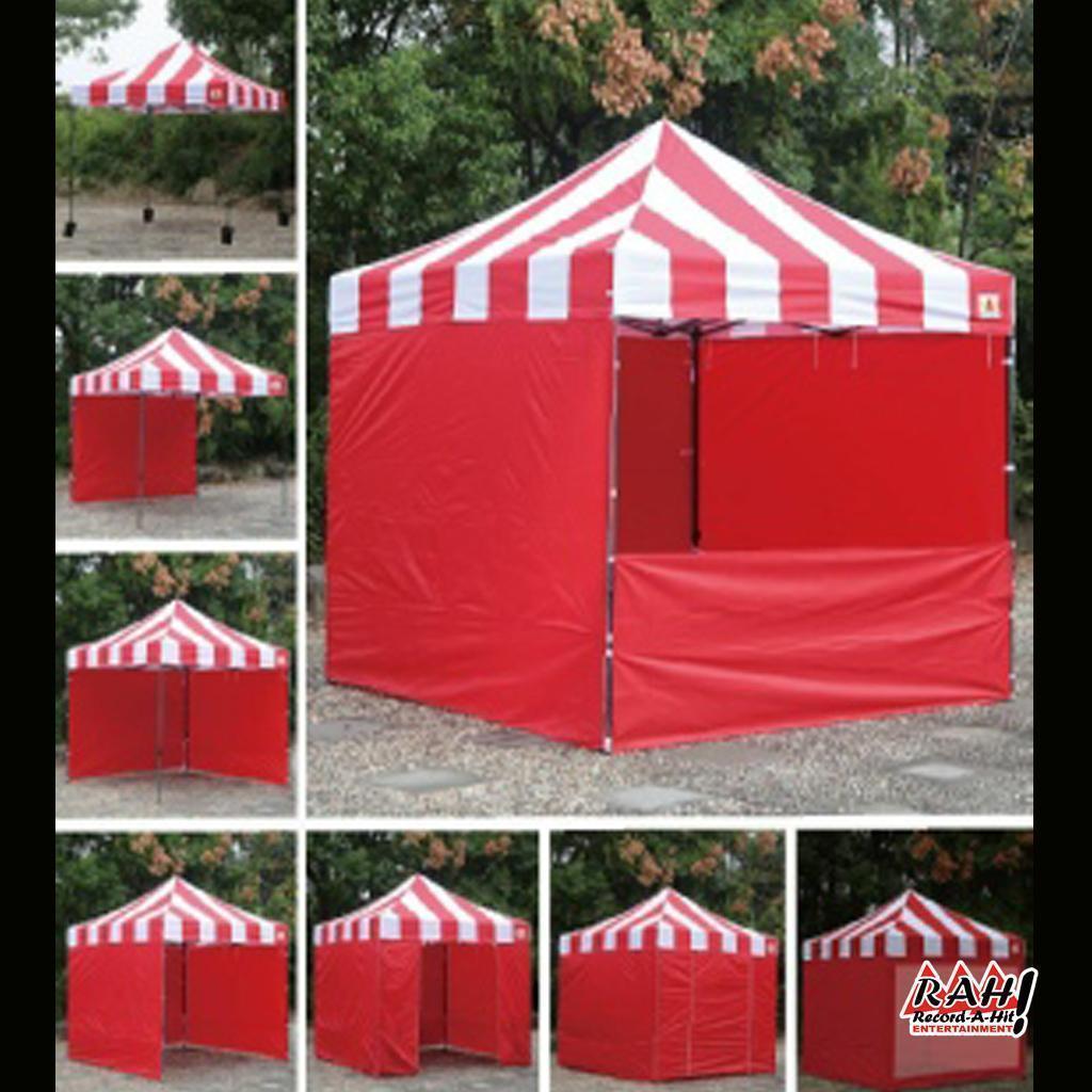 Striped Carnival Tents & Striped Carnival Tents - Record-A-Hit Entertainment Party Rental ...