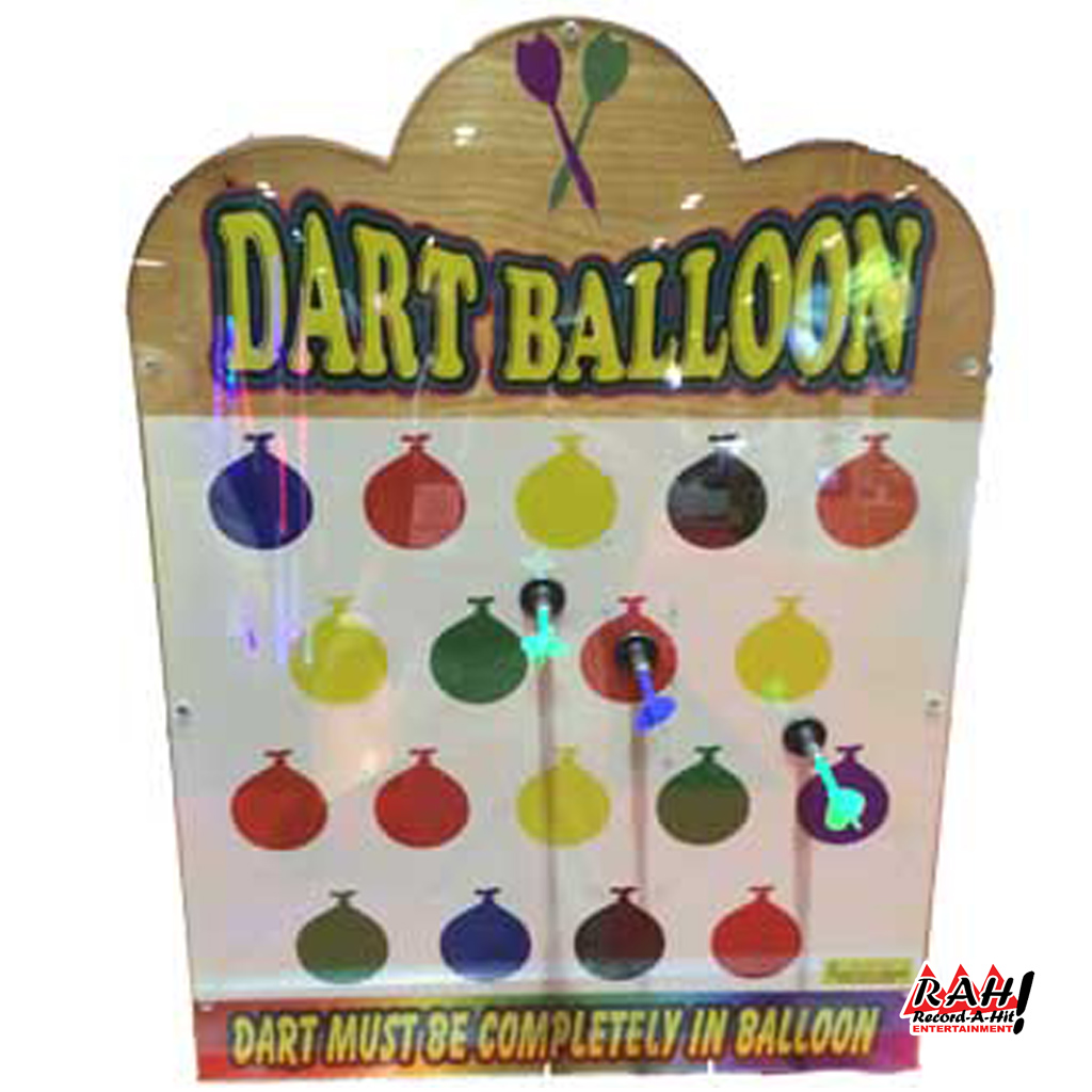 Dart Balloons Carnival Game Wood Record A Hit Entertainment