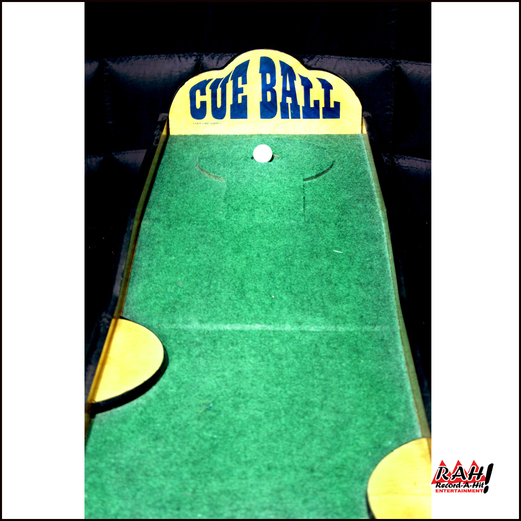 Cue Ball or Golf Putt Carnival Game - Wood - Record-A-Hit